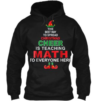 Math Teacher Christmas  - Elf Christmas Cheer Pullover Hoodie 8 oz