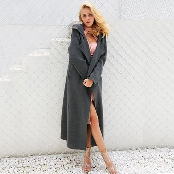 Casual Long Knitting Cardigan Elegant Button Pockets Winter Warm Sweater