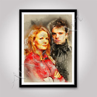 Once Upon a Time Emma Swan and Jefferson poster Instant Download Jennifer Morrison Sebastain Stan Once upon a time print Digital poster