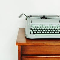 Mid-Century Hermes 3000 Typewriter - Sea Foam Green