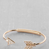Gaston Ave Crystal Arrow Bangle