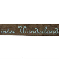 Rustic Barn Wood Sign Handpainted Winter Wonderland, Beautiful Wooden Decor, Simple Cottage Design, Icey Pale Blue Text