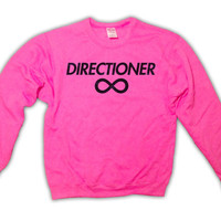 "One Direction ""Directioner"" Sweatshirt - Pink - All Sizes Available - 1D Sweater"