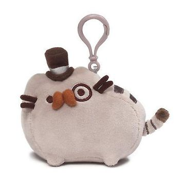 GUND Fancy Pusheen Backpack Clip Stuffed Cat Plush