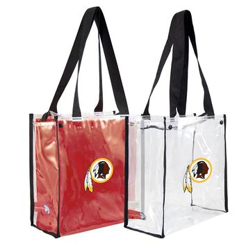 Washington Redskins NFL Convertible Clear Tote
