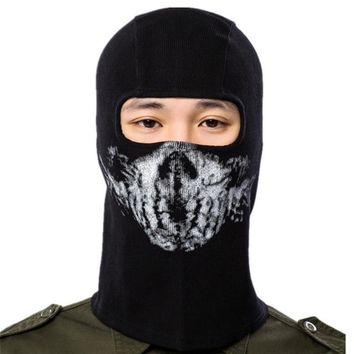2018 Outdoor Sports Ghost Full Face Masks Headgear Warm Scarf Quick-drying Fabric Hat Tactical Mask Multiple Wear 2 Styles B25