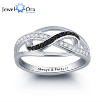 Personalized Infinite Love Promise Ring 925 Sterling Silver  Jewelry Valentine's Day Gift (JewelOra RI101785)