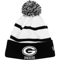 New Era Green Bay Packers 2013 NFL Fashion Sport Knit Hat with Pom - Black/White