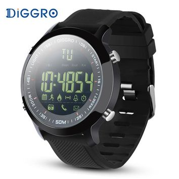 IP68 Waterproof Diggro DI04 EX18 5ATM Pedometer Message Reminder