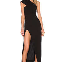 SOLACE London Dunaway Maxi Dress in Black