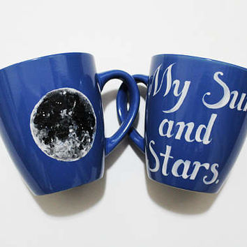 Moon of My Life My Sun and Stars Game of Thrones Blue Mugs