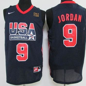 Nike Basketball Jersey USA dream team 1992 Barcelona Olympic Games # 9 Michael Jordan-1