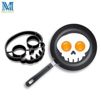 1pc Silicone Egg Mold Funny Skull Shape Fried Egg Pancake Rings Non-Slip Egg Cooking Tools