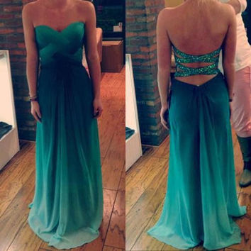 Sexy prom dresses, green prom dresses, long prom dresses, chiffon prom dresses, dresses for prom, prom dresses 2014, evening dresses, RE330