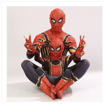 Avengers Iron Spiderman Costume Spider Man Suit Spider-man Halloween Costumes Men Adult Kids Spider-Man Cosplay Clothing