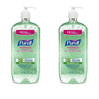 PURELL Advanced Instant Hand Sanitizer with Aloe, 1 Liter (Pack of 2)