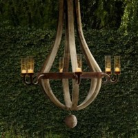 Outdoor Wine Barrel Chandelier | Chandeliers | Restoration Hardware