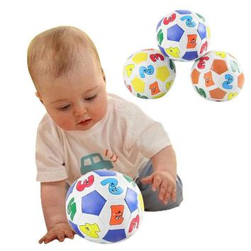 DCCKL72 Children Kids Educational Toy Baby Learning Colors Number Rubber Ball Plaything