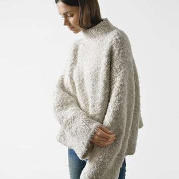 Lauren Manoogian baby merino fur sherpa pullover at Bird : ShopBird.com
