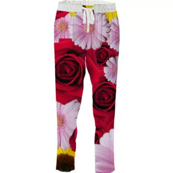 Flower bomb drawstring pant created by duckyb   Print All Over Me