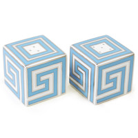 GREEK KEY SALT & PEPPER SHAKERS