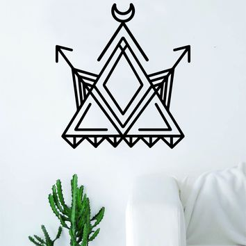 Geometric Triangle Arrows Moon Art Wall Decal Sticker Vinyl Living Room Bedroom Decor Teen Native American