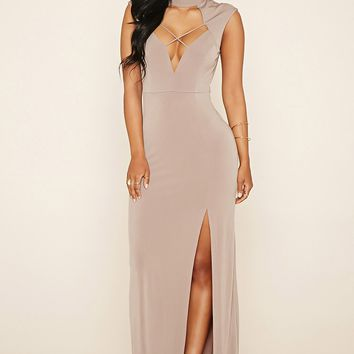 Crisscross Cutout Maxi Dress
