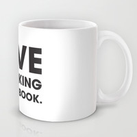 Love is Stalking on Facebook Mug by Rui Faria