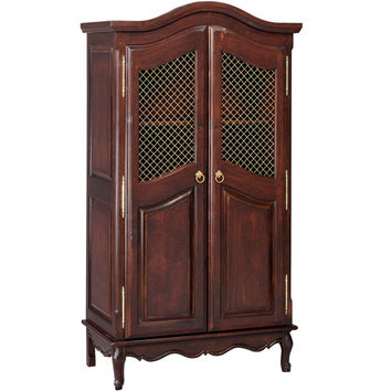 Bonne Nuit Grand Armoire with Wire Doors Antique French Walnut