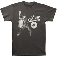 David Bowie Men's  Ziggy Stardust Slim Fit T-shirt Grey