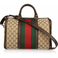Gucci | Vintage Web Boston monogrammed canvas tote | NET-A-PORTER.COM