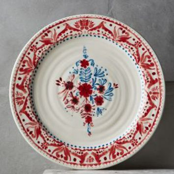 Nordic Sunrise Dinner Plate by Anthropologie in Red Size: Dinner Plate Dinnerware