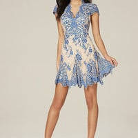 VALORIE LACE GODET DRESS