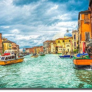 Venice Italy Gondola 3 PC Picture on Stretched Canvas, Wall Art Decor, , Ready to Hang!.