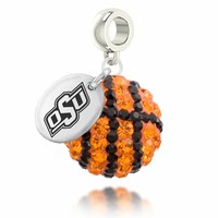 Buy Oklahoma State Cowboys Basketball Drop Charm. Free Shipping