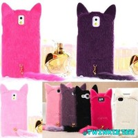 3D Cute Furry Plush Cat Kitten Back Case Cover for iPhone 5 from Crazy Cats