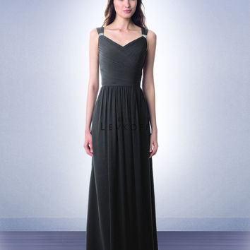 Bill Levkoff Long Chiffon Bridesmaid Dress 975