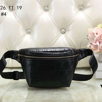 FENDI 2018 new classic double F letter embossed waist bag chest bag Messenger bag #4