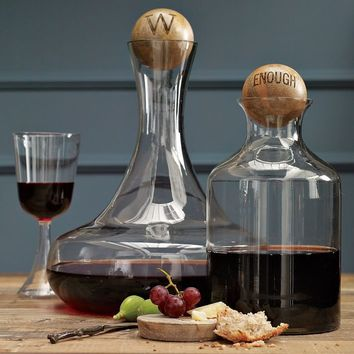Glass Bottles with Wood Stoppers | west elm