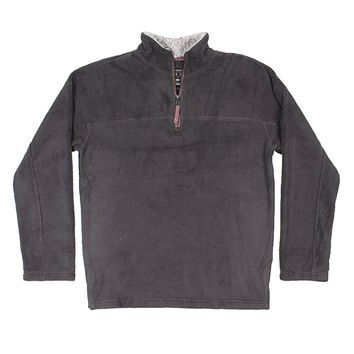 Big Sky Fleece 1/4 Zip Pullover in Soft Black by True Grit