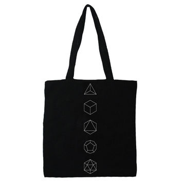 Platonic Solids Tote by Occulter