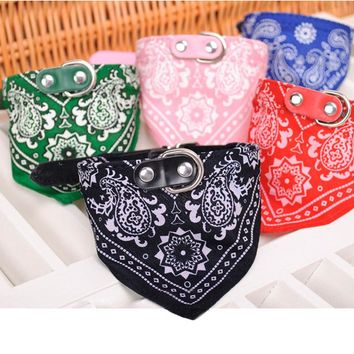 Optional Adjustable 1Pc Lovely Pet Dog Scarf Collar Adjustable Puppy Bandana Quality Pet Cat Tie Collar