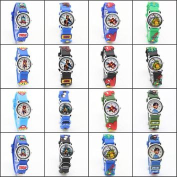 NEW Cartoon cars batman superman Avengers Spiderman Children Watch Good Gift kids watch kids girls fashion wristwatch  relogio