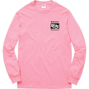 Supreme: Productions L/S Tee - Pink