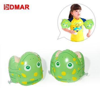 DMAR Inflatable Swimming Arm Bands Frog Ladybug For Kids Baby Pool Float Toys Infants Swimming Ring Beach Sea Water Party Summer