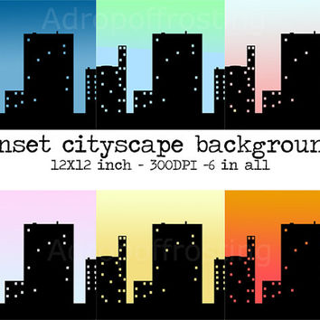 cityscape background, scrapbook background, invitation background, scrapbook city, downloadable background, downloadable city background