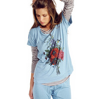 Floral Print Short Sleeves T-Shirt