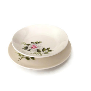 Crooksville China Dishes, Dinner Rose Pattern, Crooksville Bowl, Made in USA, 1940s China, China with Roses, Easter Serving