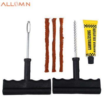 Car Tubeless Tire Repair Kit Bike Auto Tire Tyre Puncture Plug Repair Tool Kit Accessories for Any Cars