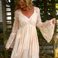 Falling For You Dress: Beige